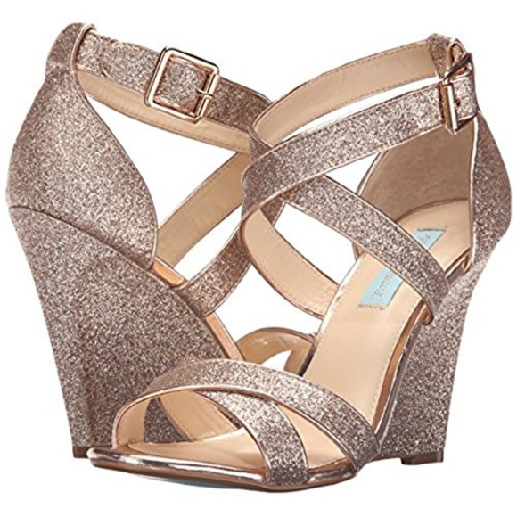 a08f51224f8de Blue by Betsey Johnson Dressy Wedge Sandals